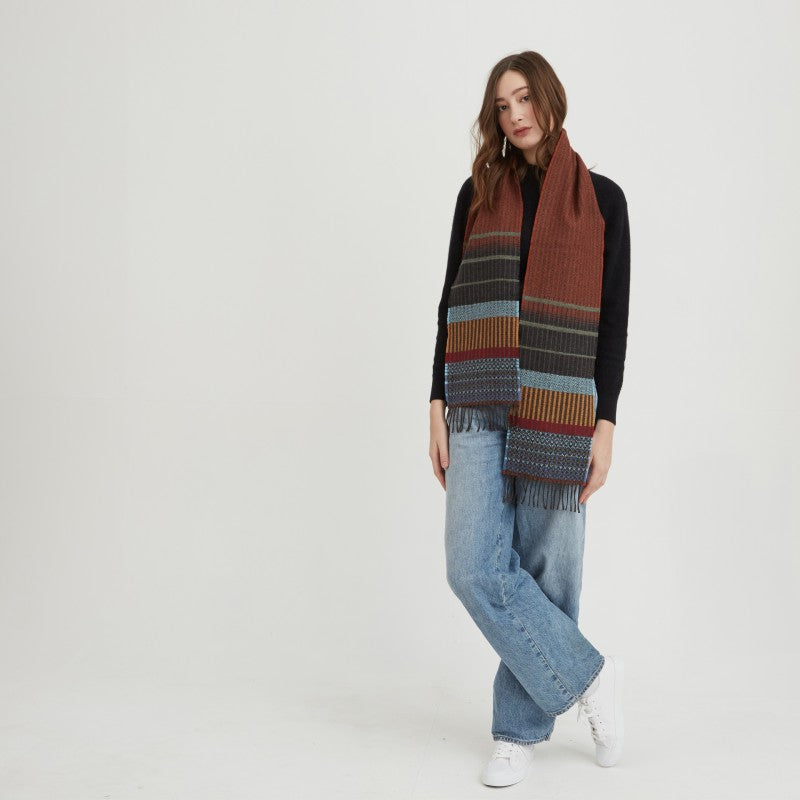 Wallace Sewell LAMBSWOOL KYOTO SCARVES - RUST