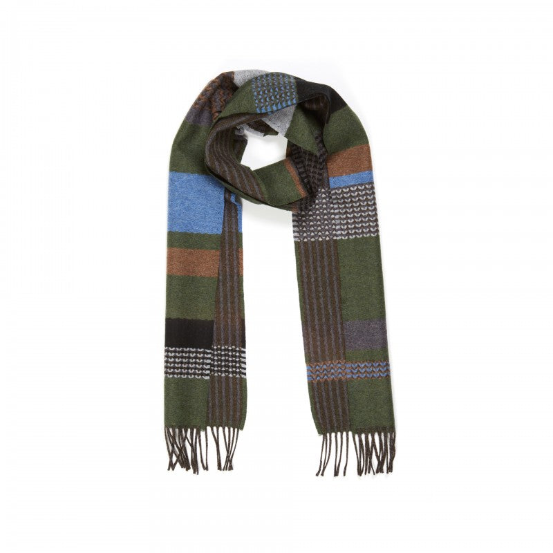 Wallace Sewell LAMBSWOOL OSAKA SCARVES - GREEN