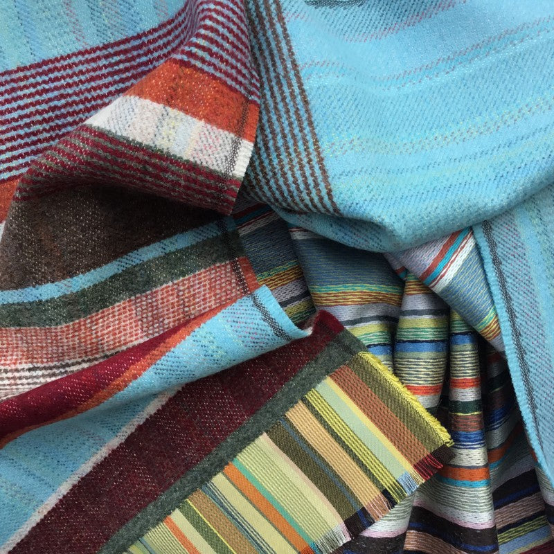 Wallace Sewell SILK AND LAMBSWOOL SCARVES // SKY