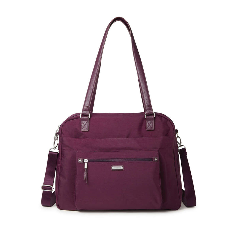 Expandable Laptop Tote w/ RFID Phone Wristlet // Burgundy