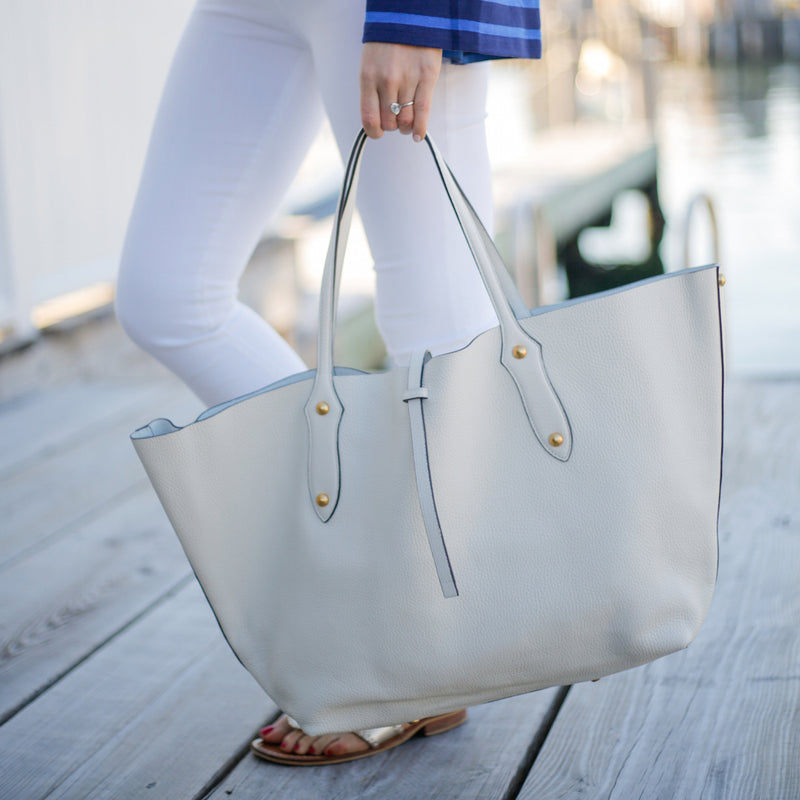 Large Isabella Tote // Ivory