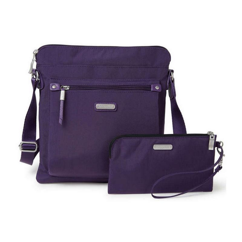 Go Bagg w/ RFID Phone Wristlet // Grape