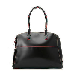 Smooth Leather Zip Around Briefcase Tote Bag