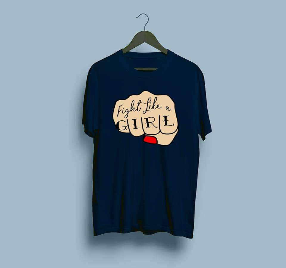 women-darkblue-printed-cotton-tshirt