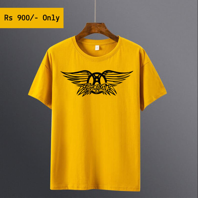 men-printed-yellow-tshirt
