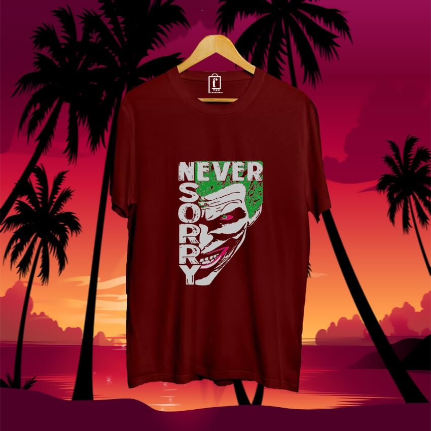 men-printed-joker-cotton-tshirt-maroon