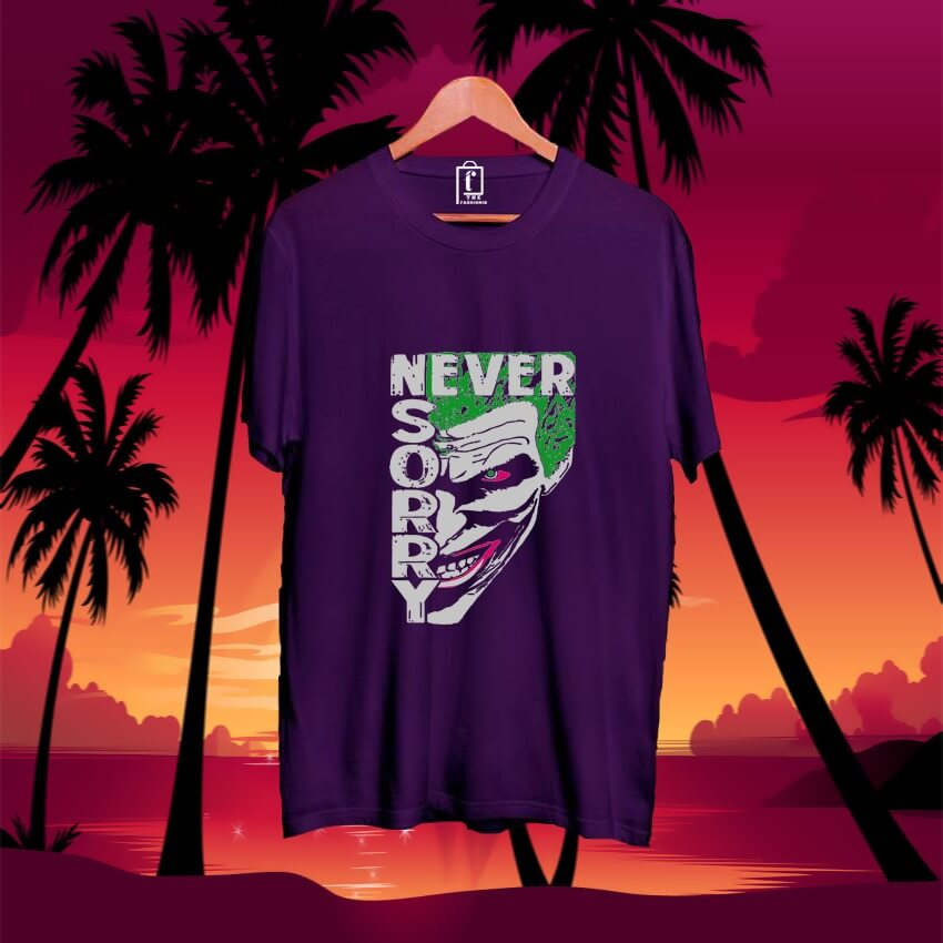 men-printed-joker-cotton-tshirt-purple