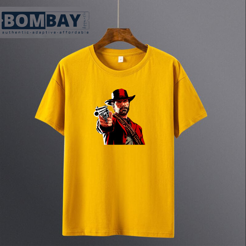 men-printed-yellow-red-dead-redemption-tshirt