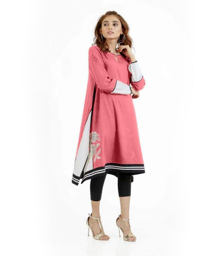 women-pink-embroidered-kurti