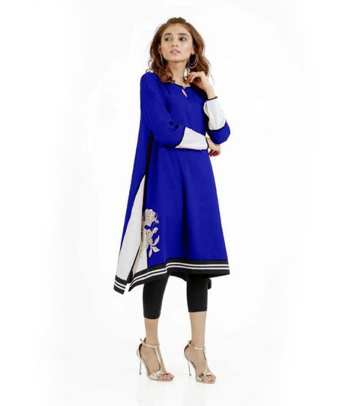 women-blue-embroidered-kurti