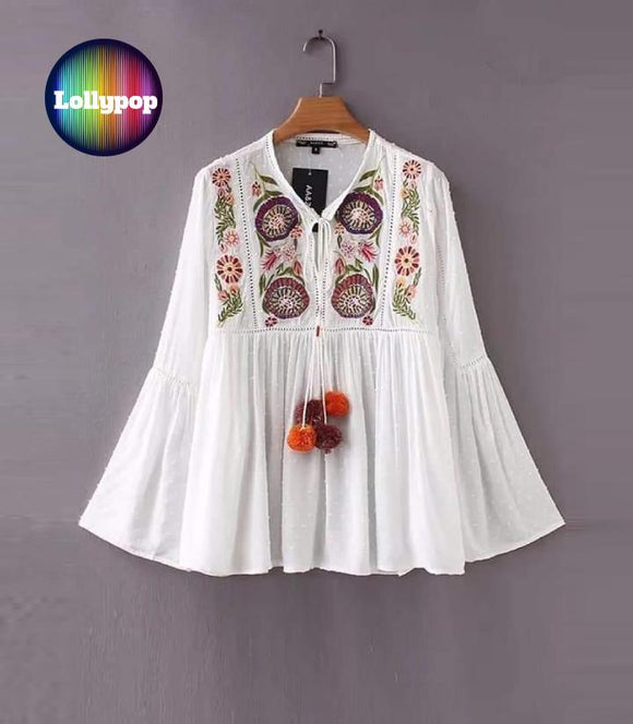 women-white-embroidered-kurti
