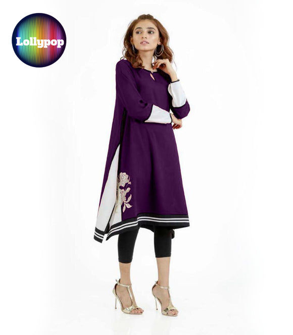 women-purple-embroidered-kurti