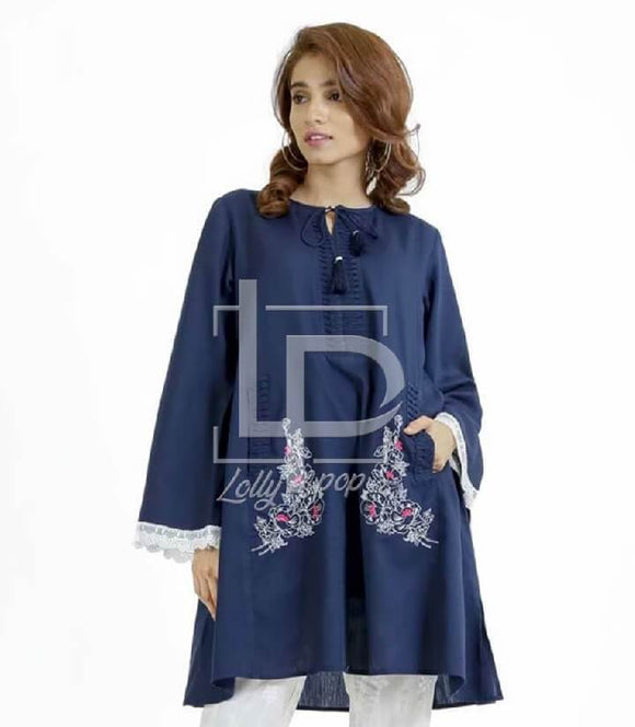 women-embroidered-blue-kurti