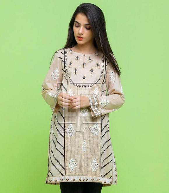 women-embroidered-brown-kurti