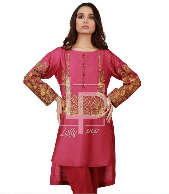 women-embroidered-maroon-kurti