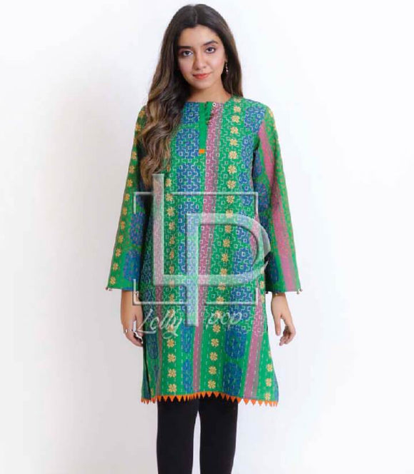 women-printed-green-kurti