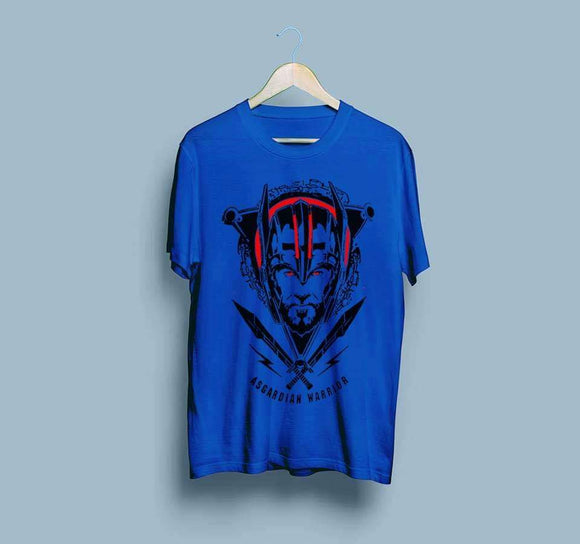 men-printed-blue-tshirt
