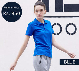 women-blue-polo-shirt