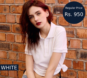 women-white-polo-shirt