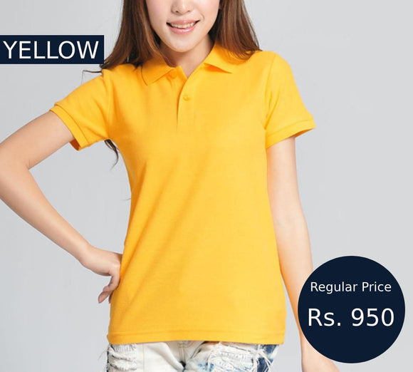 women-yellow-polo-shirt