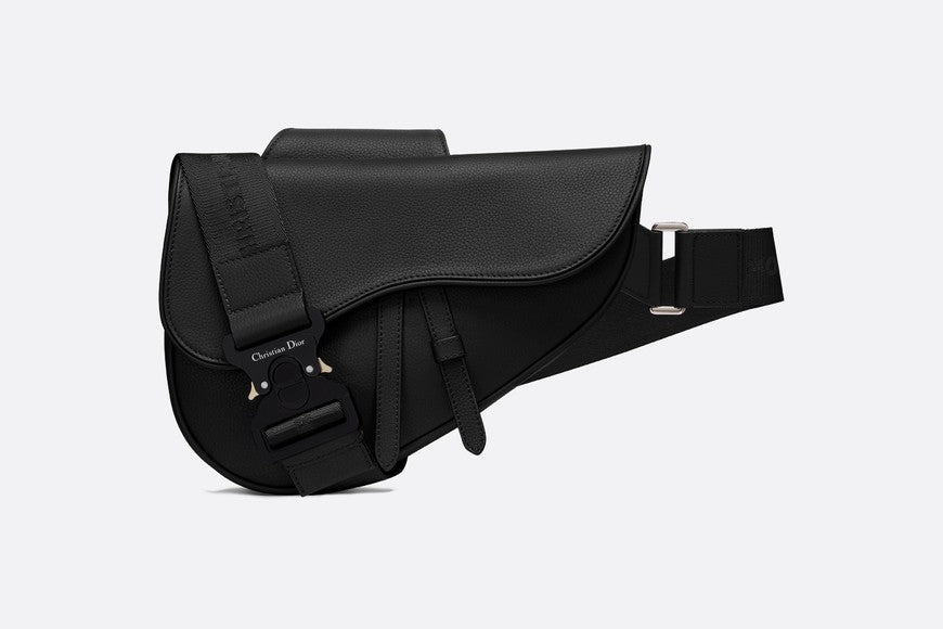 Dior Saddle Bag Grained Calfskin Black