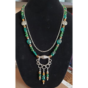 "Emerald Isle, beautiful green beaded necklace by ""In Rose's Garden"""