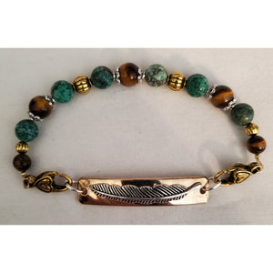 Feathered Beaded Bracelet by In Rose's Garden