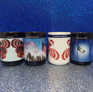 Celebrate America, Set of Four, 15 oz Mugs by LCAppling Photo Art, Montana