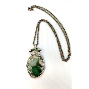 Variscite Stone Pendant Necklace by Helen Fielding Jewelry
