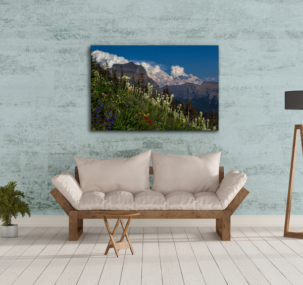 Bear Grass at Logan Pass Metal Print by Heaven's Peak Photography