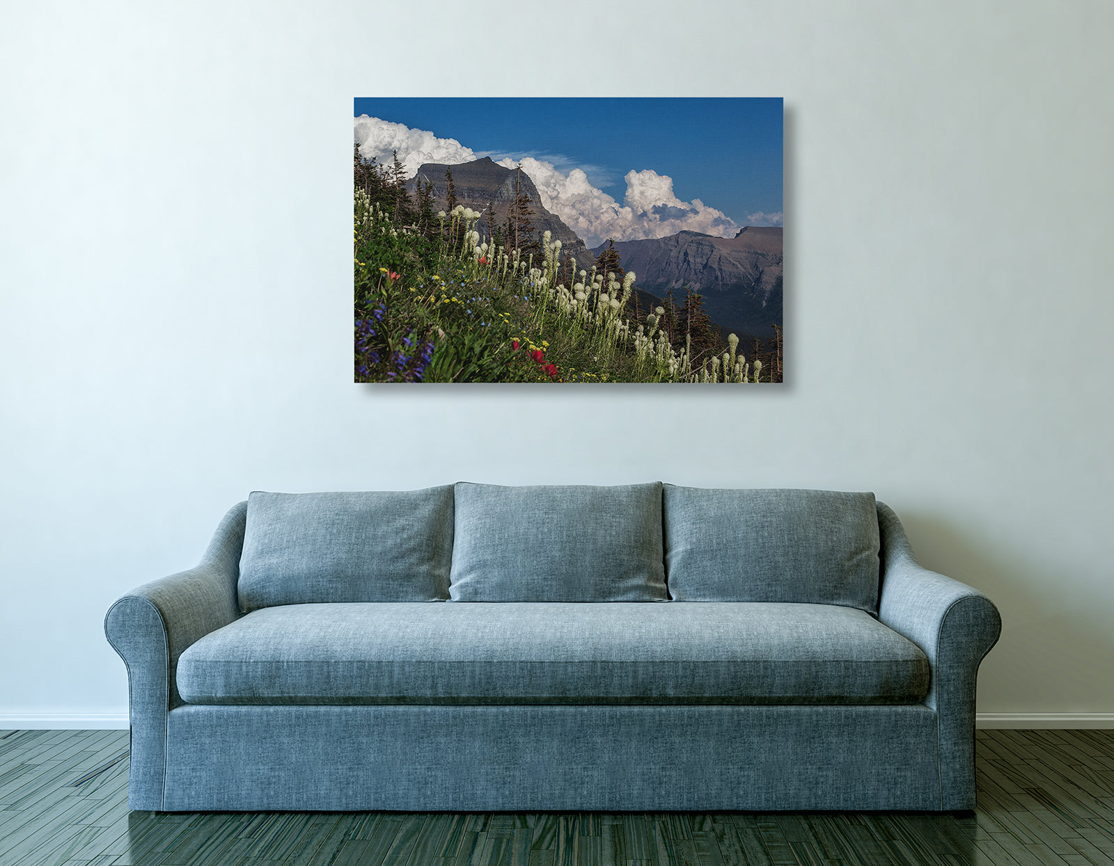 Bear Grass at Logan Pass Canvas Print by Heaven's Peak Photography