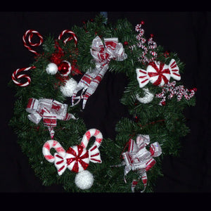 Candy Canes and Peppermint Dreams Wreath from Creations by Caron