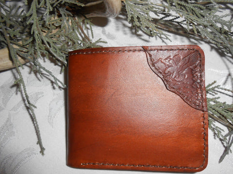Handcrafted Wallet - American Eagle Design by Montana Leatherworks