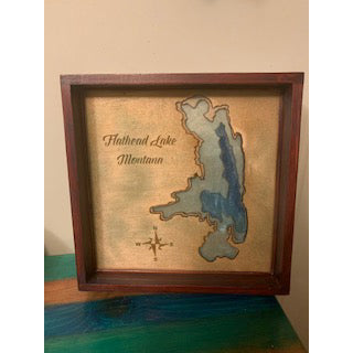 Flathead lake tray/wall hanging by Krazy Mary's Custom Creations
