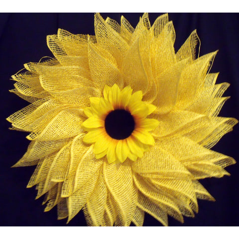 Gleaming Sunflower Wreath from Creations by Caron
