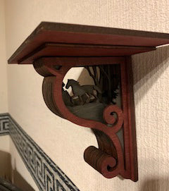 Rustic Wildlife Horse Corbel Shelf