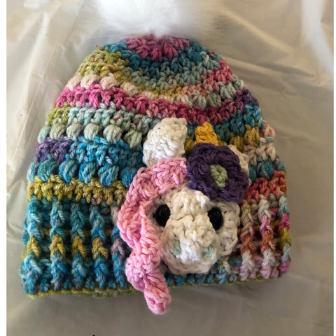 Crocheted Unicorn Hat for Kids from Unique Creations by Wendy, Montana
