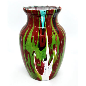 "4 Inch glass vase - ""Primary Forest"" Design by Northern Latitude Gardens"