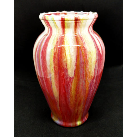 """Fire and Ice"" Glass Vase - 7 inches by Northern Latitude Gardens of Montana"
