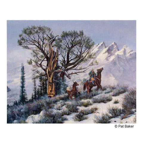"""Highline"" Original Oil Painting by Montana Artist Pat Baker"