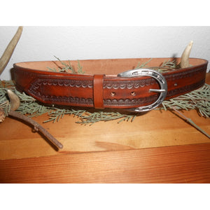 Men's Hand Tooled Belt - Celtic Knots by Montana Leatherworks