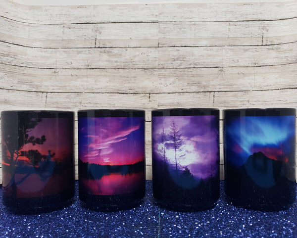 Set of 4 Mugs - Montana Sunrise and Sunset Photography