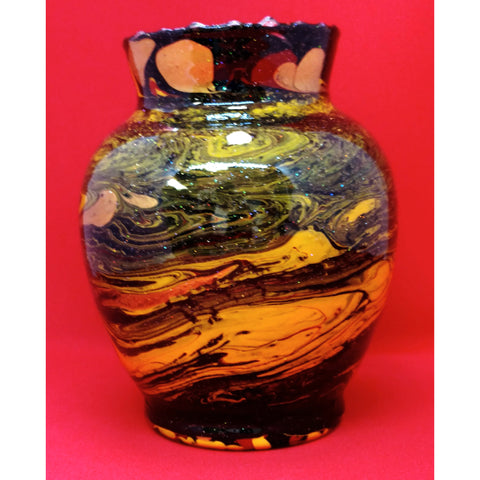 "3 Inch vase - ""Red Oriental"" Design by Northern Latitude Gardens of Montana"