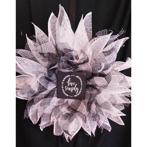 Simply Home Wreath from Creations by Caron