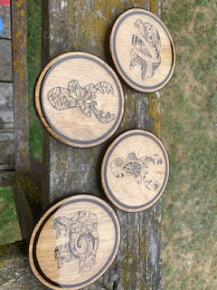 Tribal Coasters by Krazy Mary's Custom Creations