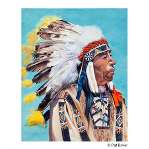 "White Calf Noble Chief"" Original Oil Painting"