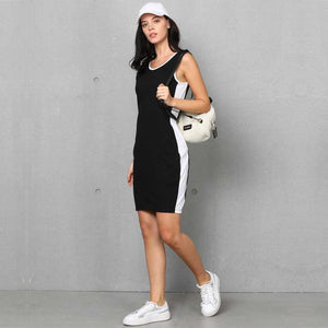 Women Crepe T Shirt Black Dress
