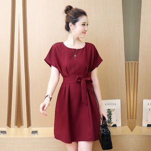 Women Cotton Fit and Flared Maroon Dress