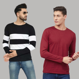 COMBO OF TWO COTTON T- SHIRTS