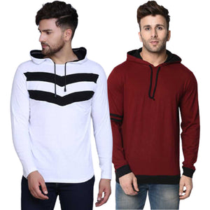 SET OF TWO COTTON HOODIES